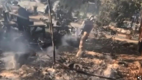 好莱坞男星亲手拍摄自家住的社区遭遇山火 豪宅烧成废墟
