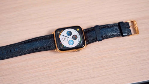 Apple Watch S4颜值爆表,镀金雕刻版更是亮瞎眼!