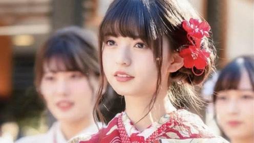 """日本""""神选美少女""""和服照引发中国网友轰动:满脸胶原蛋白"""