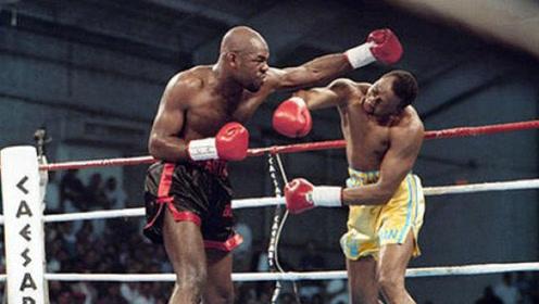 这是要往死里揍啊!黑人壮汉一拳KO 对手直接倒出场外