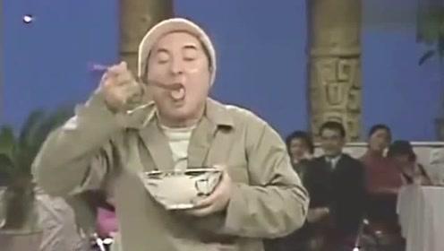 陈佩斯吃面条撑到坐不下去,眼睛一转想这种方法,观众直呼不要脸!