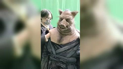 猪妖卸妆的全过程,网友:猪哥的形象又落地了!