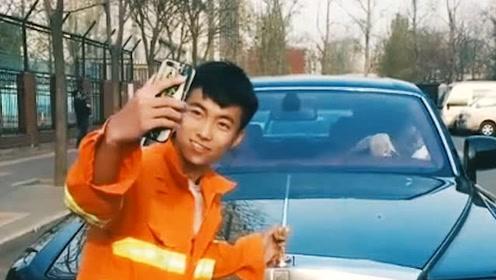小伙在豪车面前拍照挨批,结果老板说了一句话,太让人感动了!