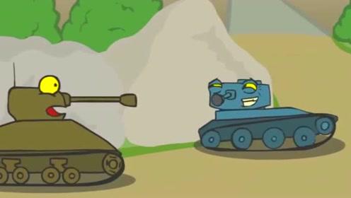 坦克世界搞笑动画:坦克被堵在墙角啦,后面的队友还在继续往前走
