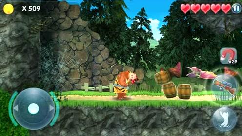 熊出没熊大运气真好,没有耗费太多力气就闯进地下基地