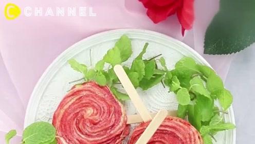 鲜艳小可爱!蔷薇花糕饼点心