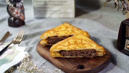 早餐就吃它,营养又健康的黑椒牛肉三明治