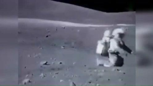 萌!宇航员登月视频被快放 画风忽然 网友:被萌哭了