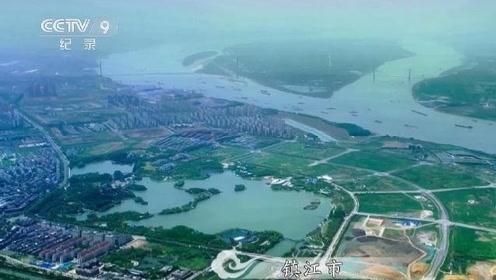 航拍中国:传说这是白娘子水漫金山的所在,千年演变的北固山美景!