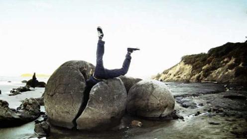 世界上最圆的石头,形成于6500万年前,游客恨不得钻进去探秘