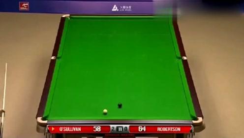 奥沙利文与对手相差6分,面对桌上唯一的黑球,能否强行翻盘?