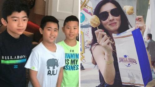 张柏芝晒13岁儿子近照 绅士又帅气神似爸爸谢霆锋