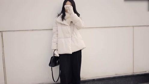 既保暖又时尚的白色羽绒服分享