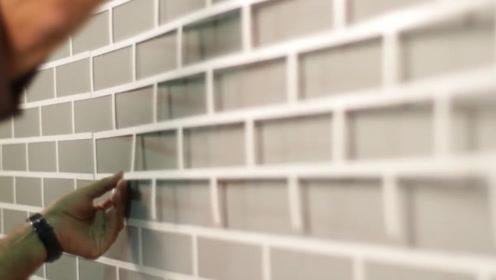 还在头疼怎么贴墙砖?看看这位小哥的方法,简单又高效!