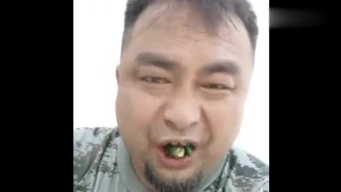 槟榔男神这个表情,是真心喜欢吃无疑了!网友:像极了图片