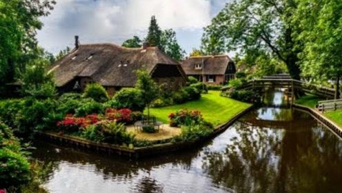 世界上最仙的村庄,每个角落都美成童话