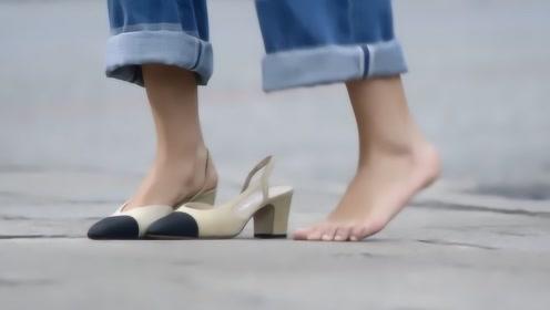 香奈儿的娇气,宁愿光着脚也不把鞋弄脏!网友:咱不懂土豪的想法