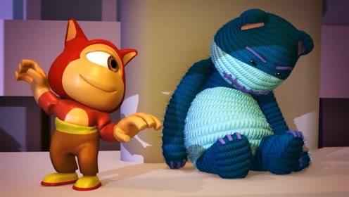 毛线熊和独眼怪时常吵架,但在危急时刻,却愿意为彼此付出一切!