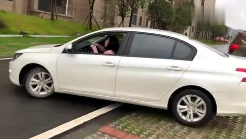 女司机拿驾照后停车,5个车位给她,动作笑死人