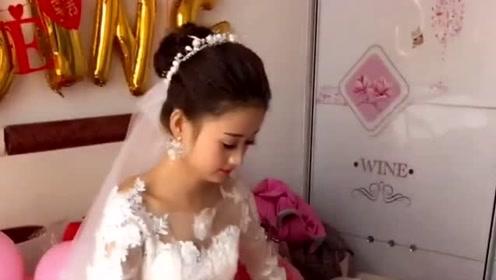 女子结婚被说像赵丽颖,伴郎去接亲,以为走错地方了