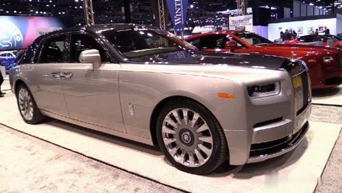 车展实拍全新劳斯莱斯汽车细节,这台车真的很豪华