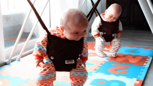双胞胎哭闹不睡觉,妈妈用这一招双胞胎快速入睡,网友:哄娃神器