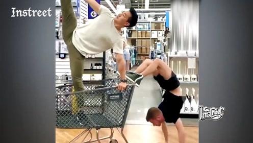 这又是什么奇葩逛超市新姿势?佩服得五体投地