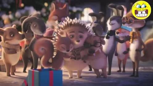 奥地利圣诞节创意广告,浑身是刺的小刺猬该怎么过!