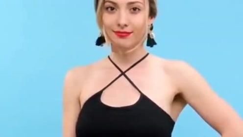 小背心的花样穿法,你喜欢哪一种呢?教你改造时尚一字肩