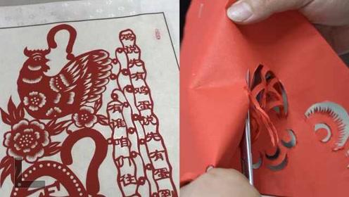 """""""剪刀手""""创作出23米百鸡图,10万欧也不卖:好东西得留在中国"""