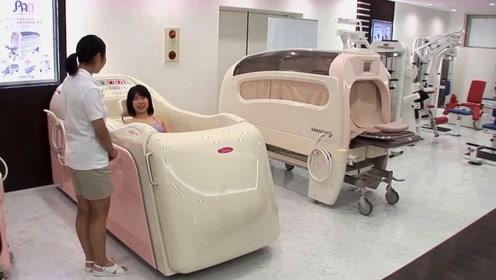 日本懒出新高度,发明全自动搓澡机,躺进去睡一觉就变干干净净