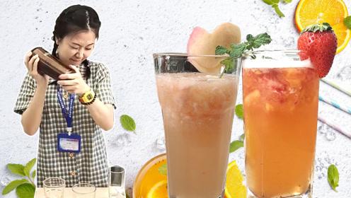 小七做高颜值网红果茶,消暑解渴,给同事带去清凉!