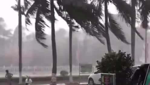 台风来临,外面空无一人,只有大风大雨在肆虐!1
