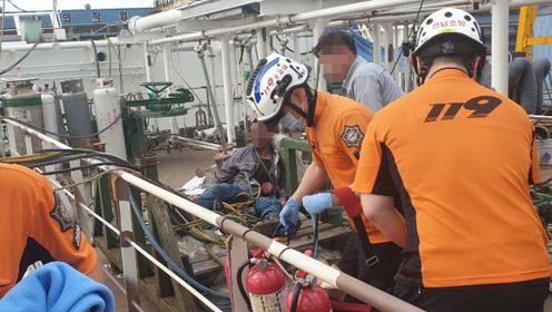 现场!韩国造船厂液化气泄漏引发爆炸 2名中国工人被严重烧伤