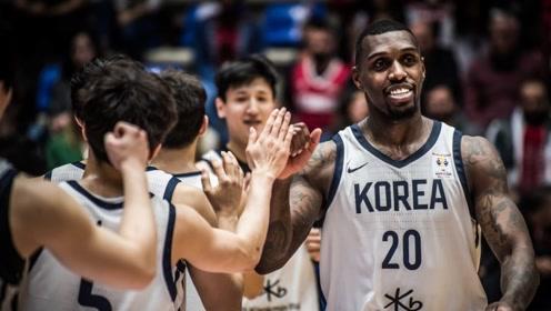 韩国男篮世预赛高光集锦 归化球员拉特利夫内线翻江倒海