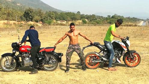 印度硬汉挑战大排量摩托车,还没开始就注定是个悲剧