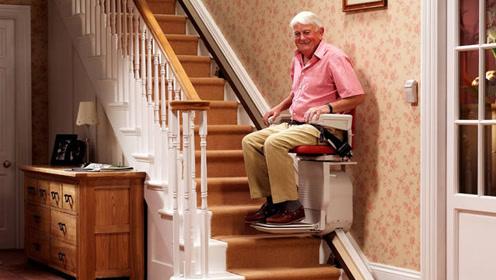 """美国发明""""老人神器"""",让70岁老人轻松上楼,造价仅35元!"""