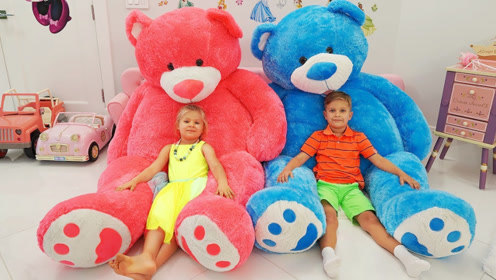戴安娜细心照顾泰迪熊,吃了神奇美食后,快乐的事情发生