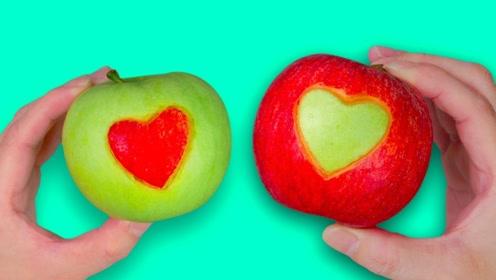 今天才发现,切苹果还有这4种小技巧,实在太漂亮了