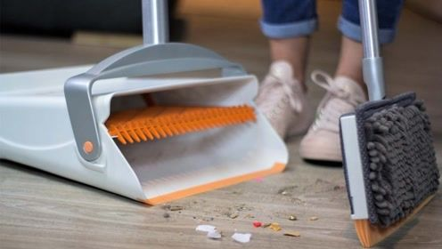 扫帚上的这个创意,扫地快速又干净,还不会粘头发