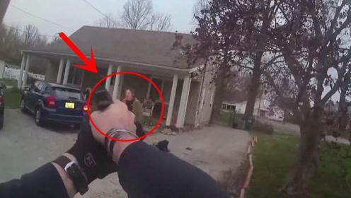 美国警察已经发出严厉警告,男子却不当回事,身中数枪后老实了!