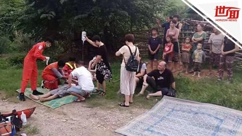 中国游客大巴在老挝发生严重事故 救援人员:多人被送医十分缺血