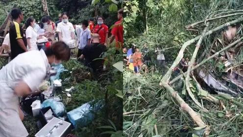 中国游客老挝遭遇严重车祸!已致8死多伤1人失踪 事发现场曝光
