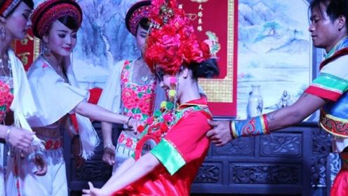 云南白族奇葩习俗,结婚时新人要被掐,掐的越疼祝福越深!