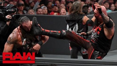 RAW1369期: 赛斯联手人间怪兽击败OC俱乐部赢双打冠军
