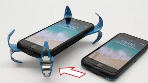 """小伙发明智能手机壳,掉落瞬间弹出四条""""腿"""",不怕碎屏了"""