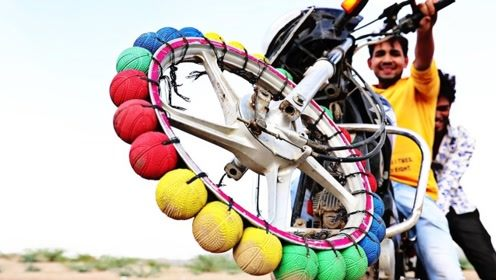 用橡胶球代替车轮,安装在摩托车上会怎样?还能正常行驶吗?
