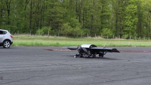 外国小伙发明飞行背包,时速310公里,穿在身上就能飞
