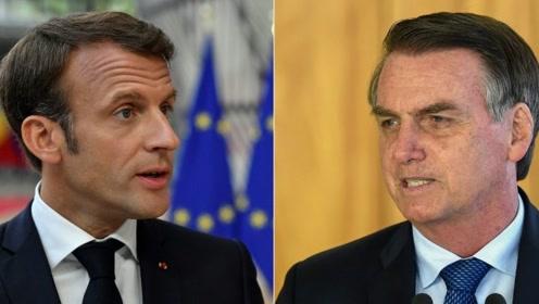 巴西法国总统闹不和拒收火灾捐款 特朗普介入口水战