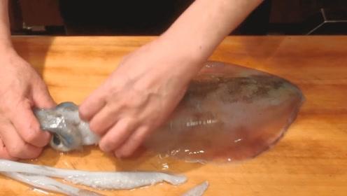 鱿鱼刺身这样处理,细腻又清新,下饭美食